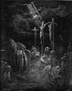 La crucifixion par Gustave Doré