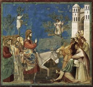 Entrée du Christ dans Jérusalem par Giotto, 1306