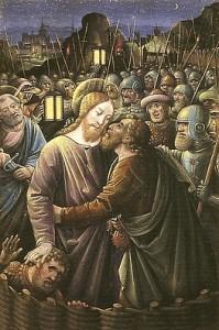 Jean Bourdichon - Baiser de Judas Livre d'Heures -Tours - fin du 15è.s