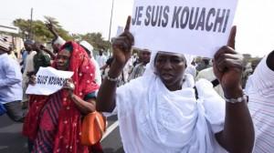Manifestations contre Charlie Hebdo à Dakar, Sénégal, 16 janvier 2015.
