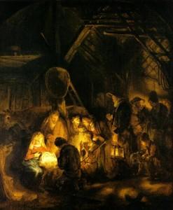 L'adoration des bergers, atelier de Rembrandt, 1647