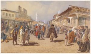 Belgrade en 1865, dominée par les Ottomans
