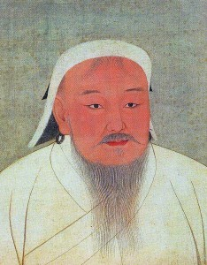 Portrait de l'empereur Mongol Gengis Khan, au Musée National de Taipeï