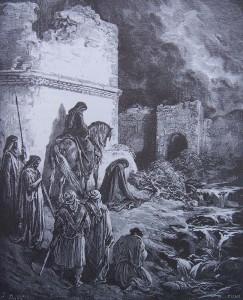 Néhémie et ses compagnons devant les portes de Jérusalem - Gustave Doré