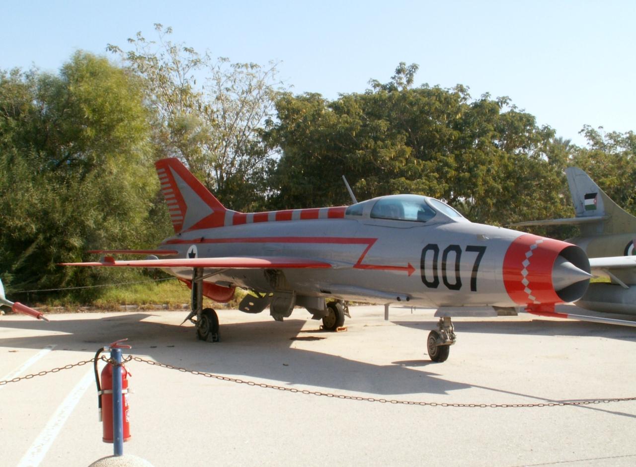 Le MiG-21F du Capitaine Redfa au Musée de l'IAF à Hatzerim